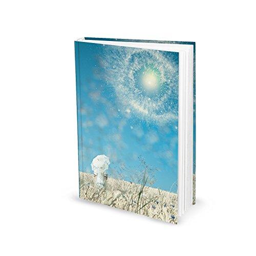 DIN A5 Tagebuch DREAMS blau türkis Notizbuch unliniert -