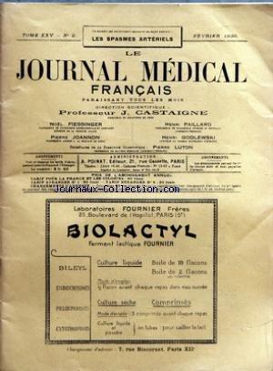 JOURNAL MEDICAL FRANCAIS (LE) [No 2] du 01/02/1936