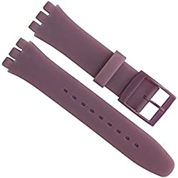 19mm Replacement Waterproof Silicone Rubber Watch Strap Watch Band (Purple)