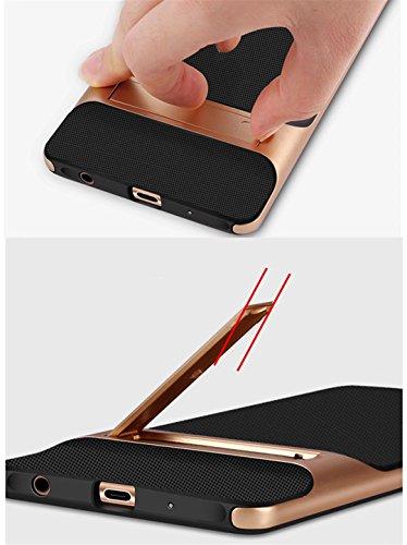 cover iPhone 7 morbido silicone Guscio Anti-drop Paraurti duro del PC pesante griglia Anti-impronta digitale supporto Custodia -Trasparente + grigio Trasparente+grigio