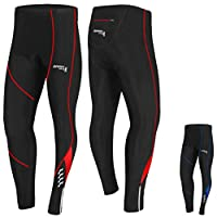 Brisk Bike Compression Trouser for Cycling Mens cycling padded trousers cycling padded tights thermals for cycling cycling leggings with padding mens cycling tights thermal