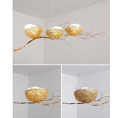 MU Dekorative Kronleuchter-Led Pendelleuchte, Moderne Kreative Pendelleuchte 3 Bird 'S Nest Deckenleuchte Kinder Kinder Schlafzimmer Hängeleuchte Restaurant Hängelampe Leuchte [Energieklasse A ++] -