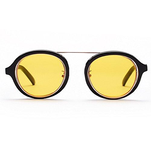 Prada Sonnenbrille Damen UV-Brillen Sonnenbrillen der Retro-Weinlese-runder Rahmen der Retro- Art...