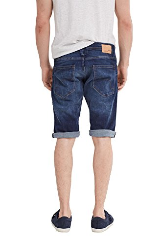 edc by ESPRIT Herren Shorts Blau (Blue Dark Wash 901)