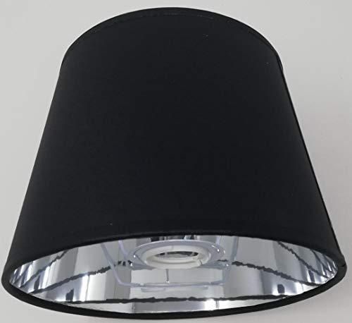 Empire Silber Moderne Kronleuchter (Empire-Lampenschirm, 20,3 cm, silberfarbenes Innenfutter, handgefertigt, Schwarz)