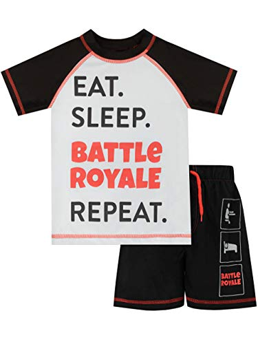 Battle Royale Bañador de Dos Piezas para niño Gaming Negro 7 a 8 Años