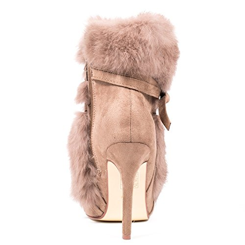 Ideal Shoes, Damen Stiefel & Stiefeletten Beige