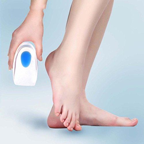 Huayang weichen Silikon Heel Pad Schuhe Einlagen Fußpflege entlasten Fersen Schmerzen Kissen - Klar Heel Schuh