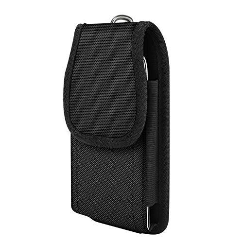 moko bolsa de teléfono de clip de cinturón para iphone 11 pro/iphone 11/iphone 11 pro max/xs/xs max/xr,galaxy note 10/note 10 plus/s10e/s10/s10+,móvil de nylon bolsa de la cintura cover - negro