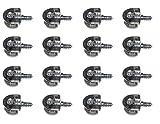HKB ® 16 Stück Exzenter Verbindungsbeschlag VB 35/16, ø 20 mm, Zinkdruckguss vernickelt, Qualitätsprodukt von Hersteller Hettich, Artikel-Nr. 62494