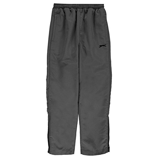 Slazenger Kinder Open Hem Woven Hose Junior Jungen Sport Laufhose Trainingshose Charcoal 13 (XLB)