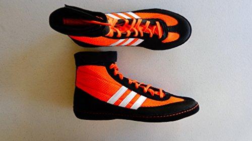 Adidas Speed â??â??Combat Taille 4 Wrestling Chaussures de jeunesse Bahia Bleu / chaux 1,5 Orange/Black/White