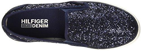 Tommy Hilfiger H1385ilton 4g, Low-Top Chaussures femme Bleu (Midnight 403)