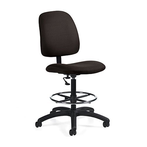 Global Office 2236-6BK-PB09 Goal Armless Drafting Office Chair by Global Furniture USA (Global Furniture Usa)