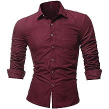 Blusa de Hombre, Polo de Hombre, Camisetas de Hombre, BaZhaHei, Tops de Hombre Personalidad Enrejado Casual Camisa de Manga Larga Impresa Top Blusa de ...