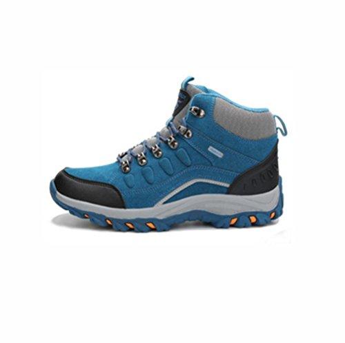QPYC Scarpe da tennis all'aperto scarpe da montagna invernali scarpe da corsa scarpe da ginnastica alta blue