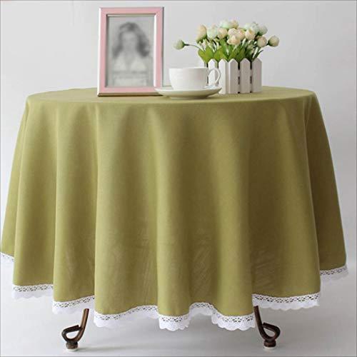 (TABLECLOTH Runde Hotel-Normallack-Tischdecke, Kaffee-Tabellen-Bankett-Tischdecke-Western-Restaurant-Konferenz-Picknick-Tischdecke (Farbe : Green, größe : 240cm))