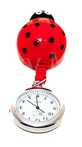 Ausziehbare Taschenuhr mit Marienkäfer-Design, für medizinisches Personal