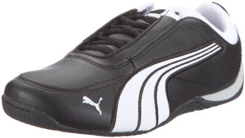 Puma  Drift Cat 4 L Jr, Low-top mixte enfant Noir - Schwarz (black-white-black 02)