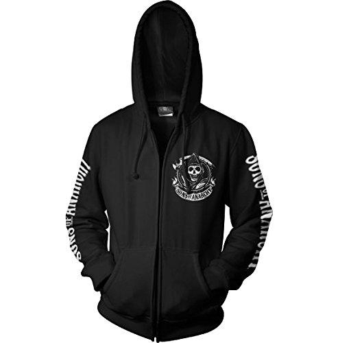SOA Full CA Backprint Zip Hood (Black), Medium
