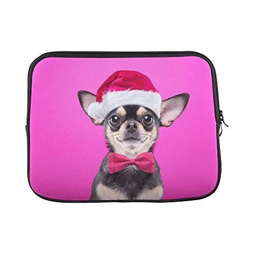 JSXMNA Design Benutzerdefinierte Smart Dog Weihnachten Kostüm Gekleidet Santa Sleeve Weiche Laptop Tasche Tasche Haut Für MacBook Air 11