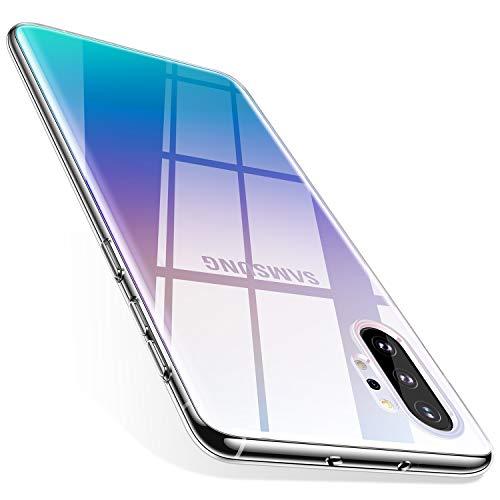 TORRAS Crystal Clear Kompatibel mit Samsung Galaxy Note 10+ Plus Hülle, Transparent [Anti-Gelb] Dünn Hülle Weiche Silikon Case Handyhülle Stoßfest Schutzhülle fü Galaxy Note10+/5G - Klar