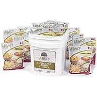 Legacy Premium Food Storage Emergency Survival Food Storage - 60 Large Servings: 16 Lbs - Freeze Dried Prepper Meals - Disaster Preparedness Supply Kit - Camping, Hiking, Rv & More
