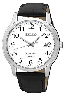 Seiko Reloj Analogico para Hombre de Cuarzo con Correa en Cuero SGEH69P1
