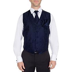 VTHA-ADF-100-XS - Paisley Vest, Necktie, Pre-Tie Bow Tie and Hanky
