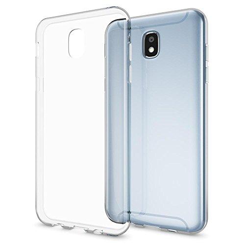 Samsung Galaxy J3 2017 (EU-Modell) Hülle Handyhülle von NALIA, Slim Silikon Motiv Case Crystal Schutzhülle Dünn Durchsichtig Etui Handy-Tasche Back-Cover Transparent Bumper - Transparent