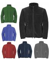 Mens Full Zip Classic Fleece Jackets Sizes XS to 4XL SUITABLE FOR WORK & LEISURE (4XL - XXXXL, NAVY BLUE)