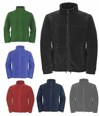 Mens Full Zip Classic Fleece Jackets Sizes XS to 4XL SUITABLE FOR WORK & LEISURE (3XL - XXXL, NAVY BLUE)