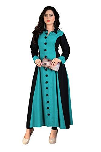BEST party wear Women's Designer kurti - Princess cut stitched heavy long...