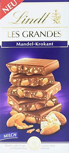 Lindt Les Grandes Mandel-Krokant Tafel, Vollmilchschokolade, 5er Pack (5 x 150 g)