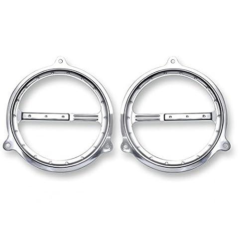 Speaker grills, front, dimpled, chrome - c0051-c - Covingtons 44050373