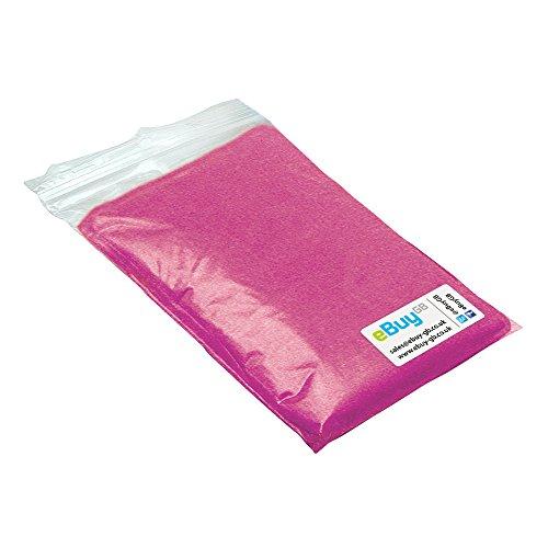 eBuyGB Pack von 2 Notfall wasserdicht Regenponcho - Outdoor-Pacamac Transparent rosa