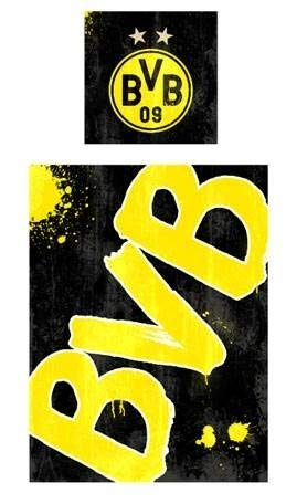 Borussia Dortmund Bettwäsche Glow in the Dark 135x200cm inkl. Kissenbezug 80x80cm