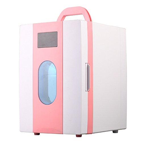Preisvergleich Produktbild RUIRUI Tragbare Auto Kühlschrank 10L für Haus und Auto , pink
