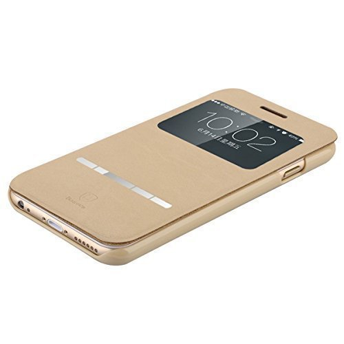 """Di lusso della copertura di vibrazione magnetica del basamento della cassa del cuoio del raccoglitore per Apple iPhone 6 4.7 """" (Thin Khaki)"""