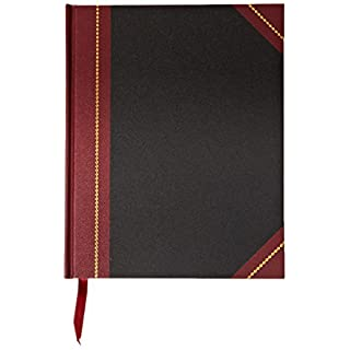 Adams Journal, Journal Ruled, 7.63 x 9.63 Inches, Black Cover with Maroon Spine, 300 Pages (ARB79J300) by Adams