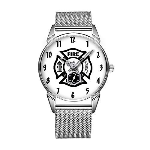 Mode wasserdicht Uhr minimalistischen Persönlichkeit Muster Uhr -355. FeuerwehrMann -