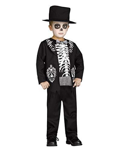 Horror-Shop Skelett Kleinkinder Kostüm für Halloween XL bis 6 (Skelett Kleinkind Kostüm)