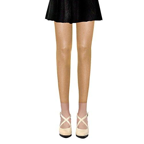 Collants Voile Opaques 50 Deniers Sans Pied Leggings (Rouge, Bleu, Rose, Violet, Vert, Beige, Jaune, Gris, Creme, Marron, Noir, Blanc) (Beige (Chair))