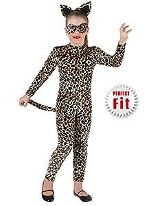 Clown Republic 86112/12 - Disfraz de gato para niña, multicolor