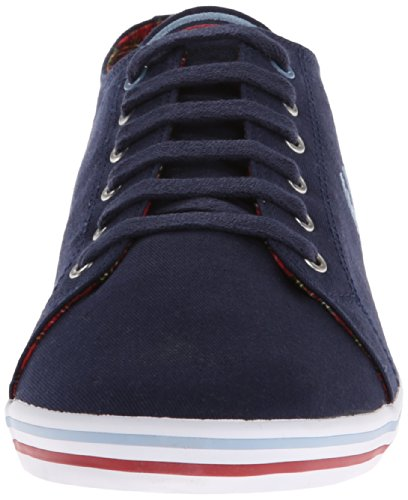 Fred Perry Kingston Twill Tipped Carbon Blue Red Blau