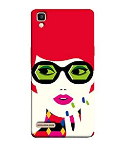 PrintVisa Designer Back Case Cover for Oppo F1 :: A35 (Suits your personality red pink blue green )