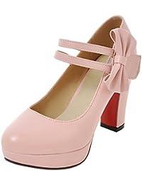 Show Story - Zapatos Planos con Cordones mujer , color Blanco, talla 35.5