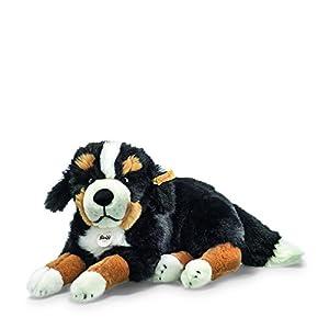 Steiff 079528 - Perro de montaña bernés de peluche Sigi, color blanco y negro importado de Alemania