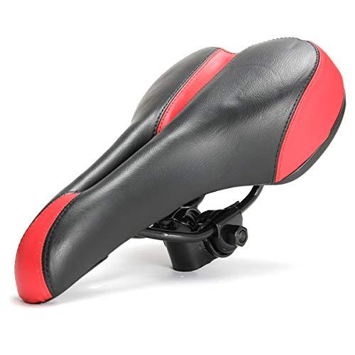 LMIAOM Unisex Sport Weithohlkanal Hybrid-Fahrrad-Straßen-Fahrrad-Komfort-Sattel Reparaturwerkzeug für Zubehörteile (Color : Black) -