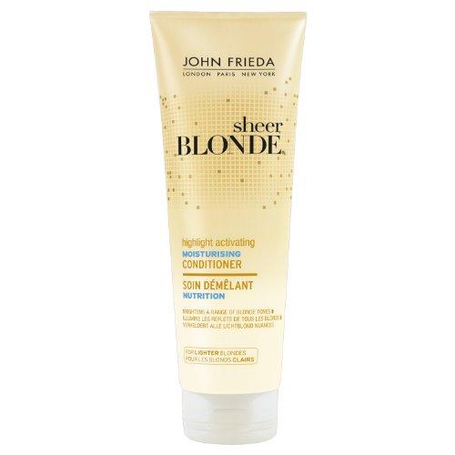 John Frieda Sheer Blonde Soin Démêlant Nutrition Hydratant pour Cheveux Blonds Clairs 250 ml